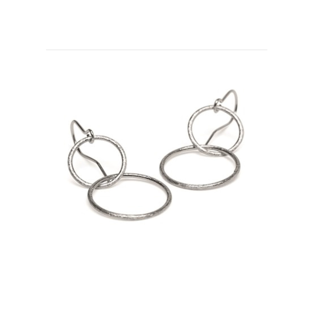 Double Plain Ear Hooks - Silver