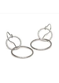 PERNILLE CORYDON Double Plain Ear Hooks - Silver