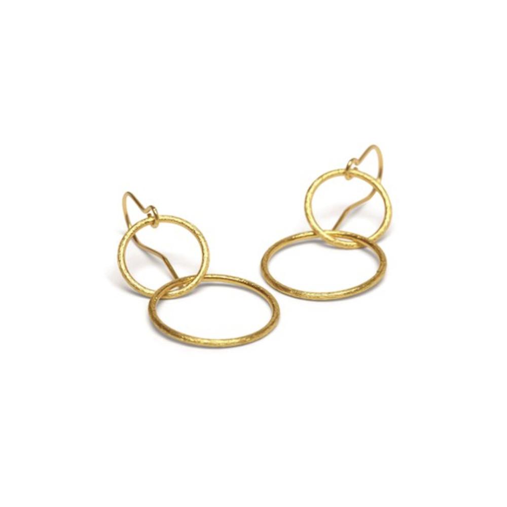 Double Plain Ear Hooks - Gold