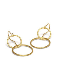 PERNILLE CORYDON Double Plain Ear Hooks - Gold