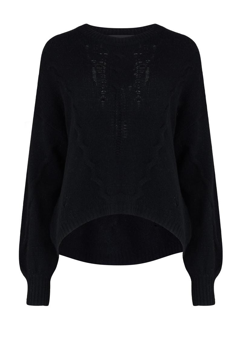 862b9d4be8228 360 SWEATER Lea Cashmere Jumper - Black main image ...