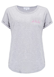 MAISON LABICHE Oh La La Organic GOTS Cotton Tee - Heather Grey