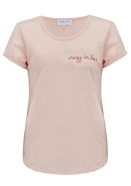 MAISON LABICHE Crazy in Love Cotton Tee - Heather Pink
