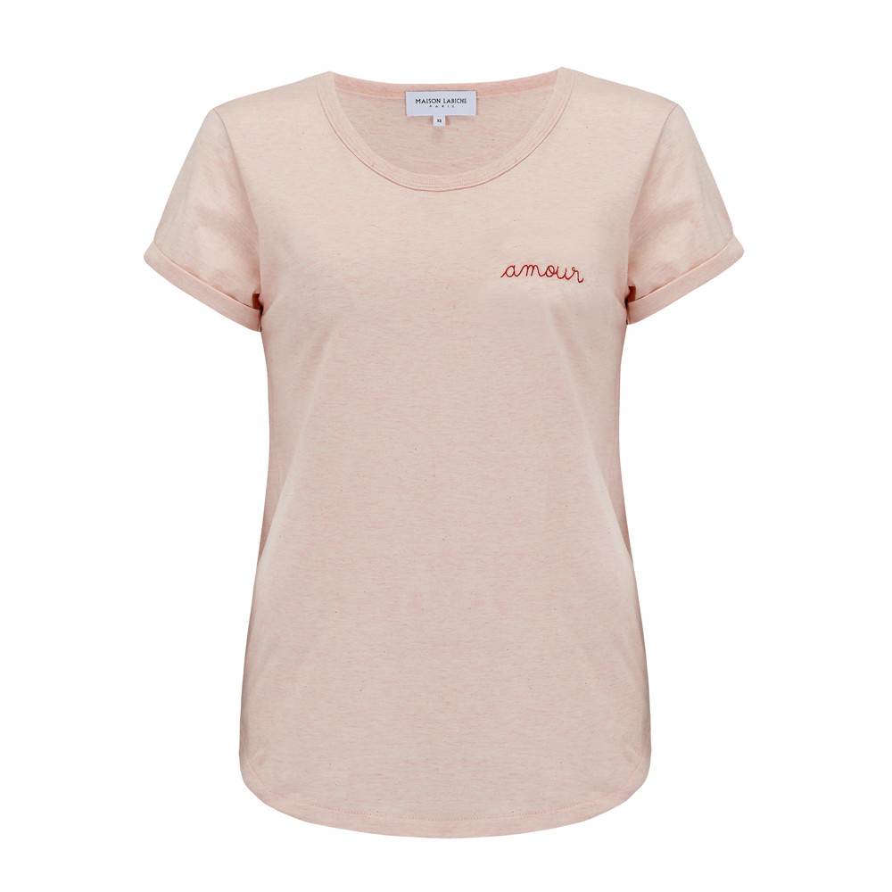 Amour Tee - Heather Pink