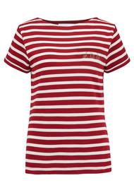 MAISON LABICHE Sailor Oh La La Short Sleeve Tee - Red & White