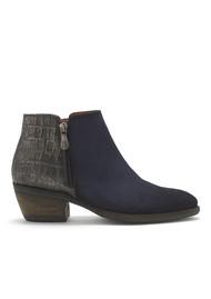 KANNA Borba Leather Boots - Azul & Navy