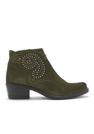 KANNA Kelly Suede Studded Boots - Leccio