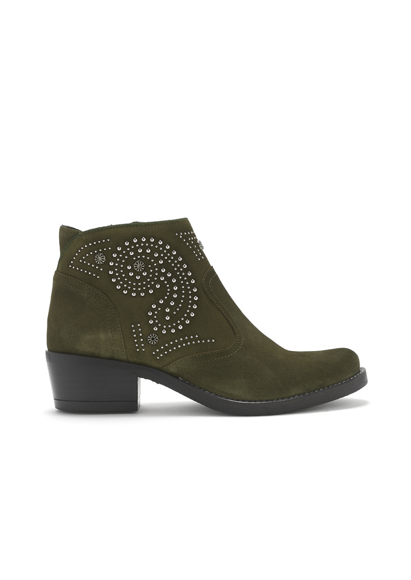 KANNA Kelly Suede Studded Boots - Leccio main image