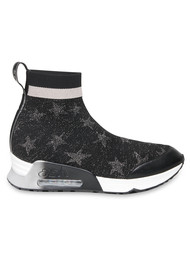 Ash Lulla Star Trainers - Black, Silver & Rose Gold