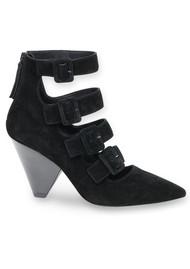 Ash Dolby Suede Buckle Heels - Black