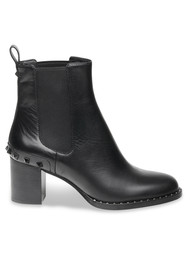 Ash Vertigo Leather Boots - Black