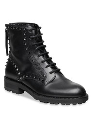 Ash Wolf Studded Boots - Black