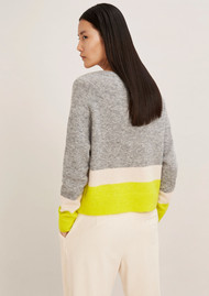 SAMSOE & SAMSOE Nor O-N Short Mix Jumper - Grey Spring