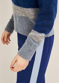 SAMSOE & SAMSOE Nor O-N Short Mix Jumper - Blue Depths