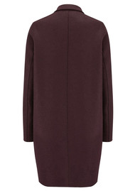 HARRIS WHARF Cocoon Wool Coat - Bordeaux