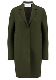 HARRIS WHARF Cocoon Wool Coat - Military