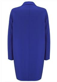 HARRIS WHARF Cocoon Wool Coat - Bright Blue