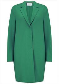 HARRIS WHARF Cocoon Wool Coat - Evergreen