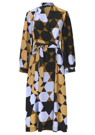 STINE GOYA Micaela Silk Dress - Hexagon Amber