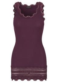 Rosemunde Wide Lace Silk Blend Vest - Bourgogne