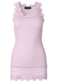 Rosemunde Wide Lace Silk Blend Vest - Violet Ice