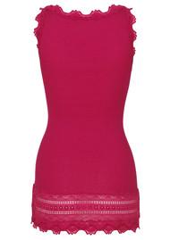 Rosemunde Wide Lace Silk Blend Vest - Raspberry Red