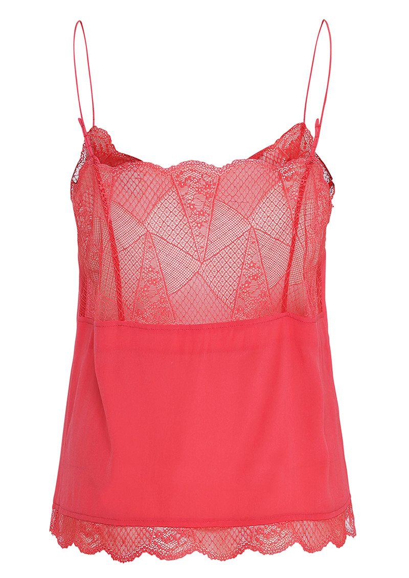 CUSTOMMADE Poulin Lace Camisole - Rouge Red main image