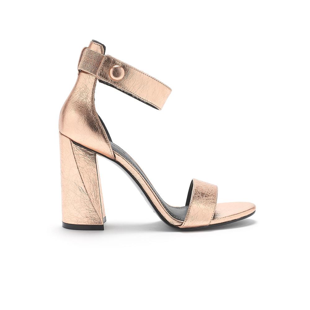 Kkjewel Ankle Strap Heels - Rose Gold