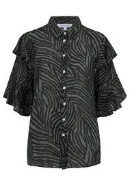 Lily and Lionel Exclusive Frankie Shirt - Zebra Khaki