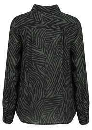 Lily and Lionel Exclusive Daria Blouse - Zebra Khaki