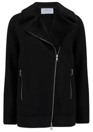 HARRIS WHARF Long Biker Jacket - Black