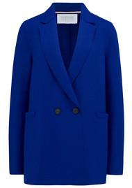 HARRIS WHARF Boxy Blazer - Bright Blue