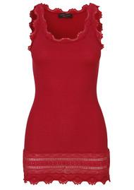 Rosemunde Wide Lace Silk Blend Vest - Scooter Red