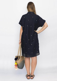 NOOKI Beatrice Dress - Navy