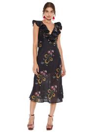 LA MAISON TALLULAH Lullaby Midi Dress - Dobby Print