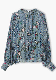 Lily and Lionel Jess Top - Doodle Leo Blue