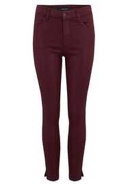 J Brand Alana High Rise Crop Coated Jeans - Oxblood