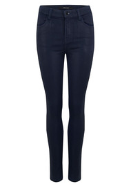 J Brand Maria High Rise Skinny Coated Jeans - Electric