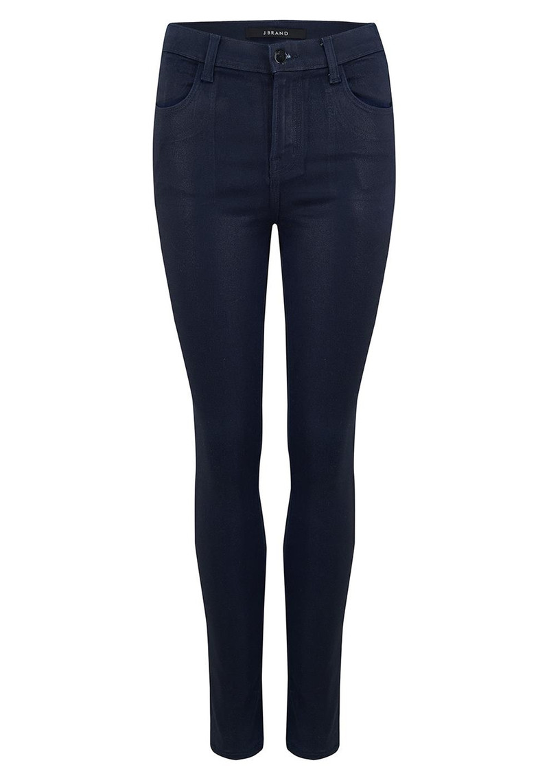 J Brand Maria High Rise Skinny Coated Jeans - Electric main image