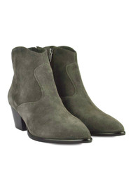 Ash Heidi Bis Suede Boots - Military