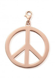 ChloBo Large Peace Pendant - Rose Gold