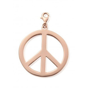 Large Peace Pendant - Rose Gold