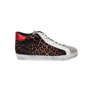 Exclusive Alto High Top Trainers - Leopard & Red