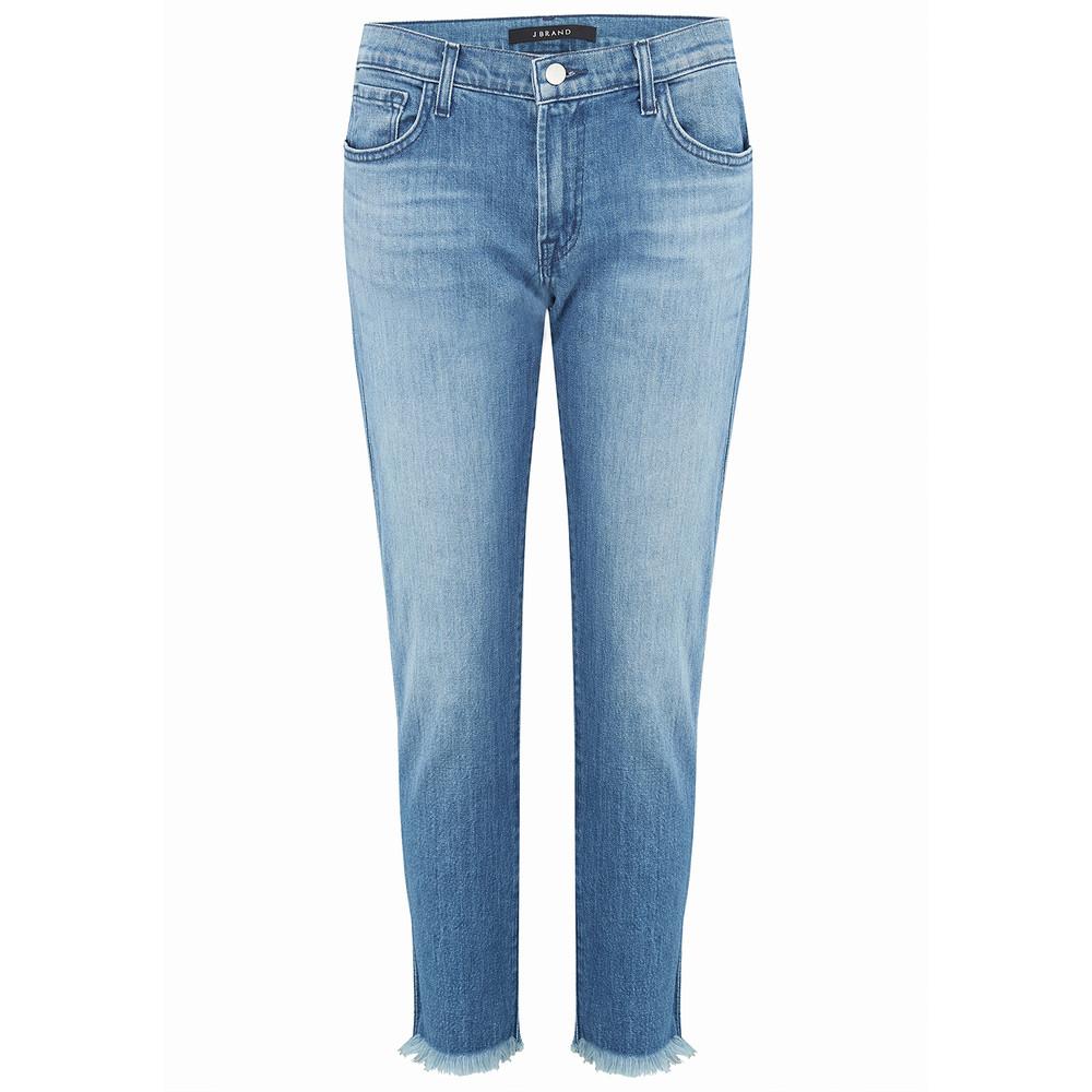 Sadey Mid Rise Slim Cropped Straight Jean - Naive