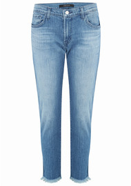 J Brand Sadey Mid Rise Slim Cropped Straight Jean - Naive