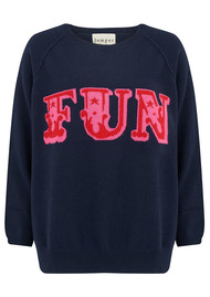 JUMPER 1234 Fun Jumper - Navy, Red and Tulip