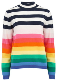 JUMPER 1234 Striped Turtle Neck Jumper - Multi