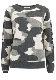 JUMPER 1234 Camo Cashmere Jumper - Grey & Dawn