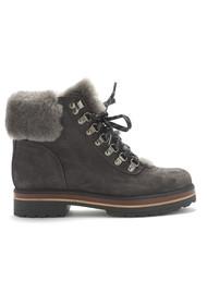 KANNA Mery Lace Up Boots - Still Grey