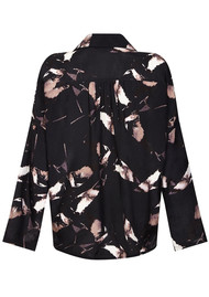 NOOKI Teresa Blouse - Black Winter Swallow